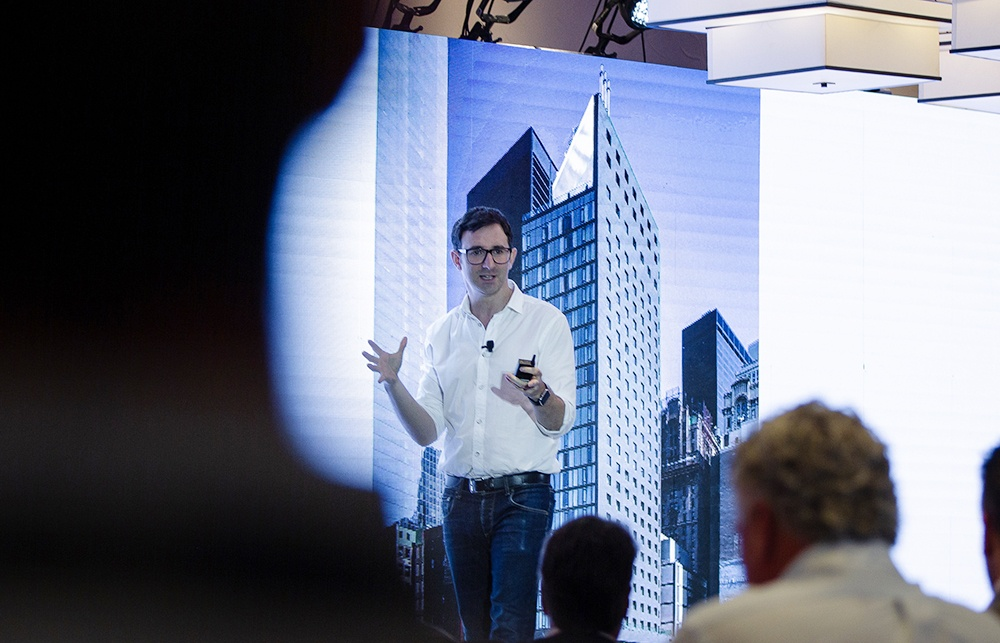 Architect and TV host Danny Forster speaking at HotelSpaces