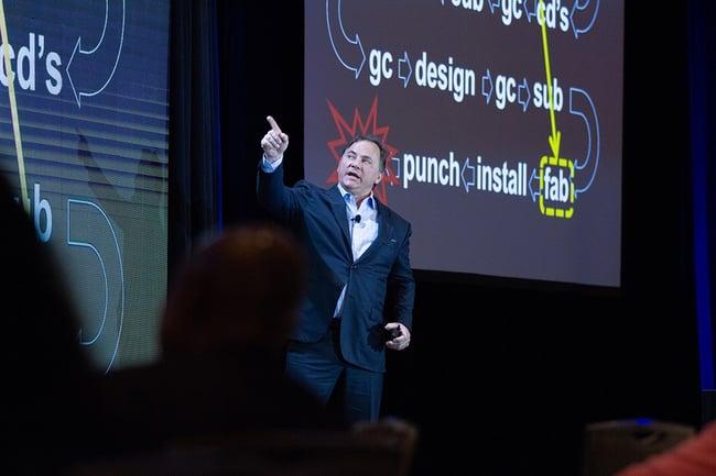 BLOX CEO Chris Giattina talking at HealthSpaces